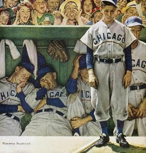 Baseball Art 41 - The Dugout