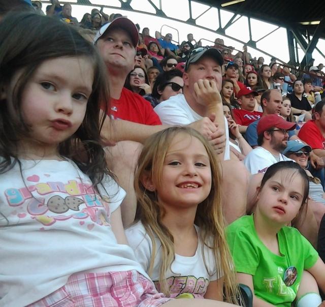 Alli, Shalee, and Rebecca at Rangers Game 07-06-2013