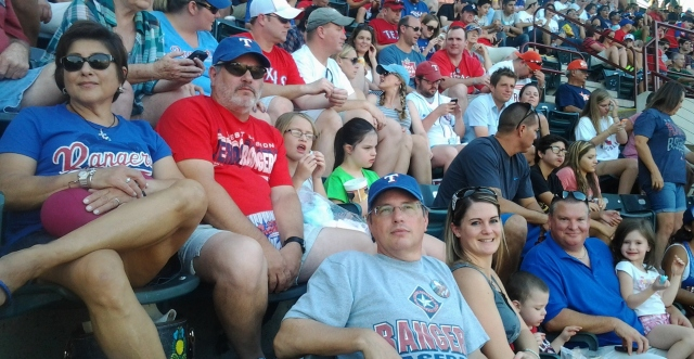 Anna, Tony, Shalee, Rebecca  Paul, Samantha, Trey, JJ, Alli  Rangers Game 07-06-2013