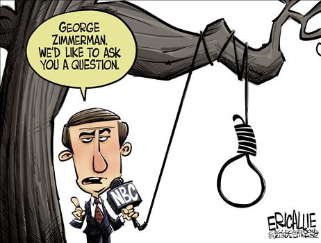 NBC and George Zimmerman, obama cartoons