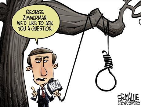 NBC and George Zimmerman, obama cartoons