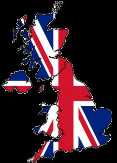 England Flag Map