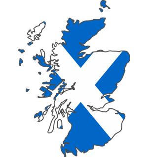 Flag-Map-of-Scotland