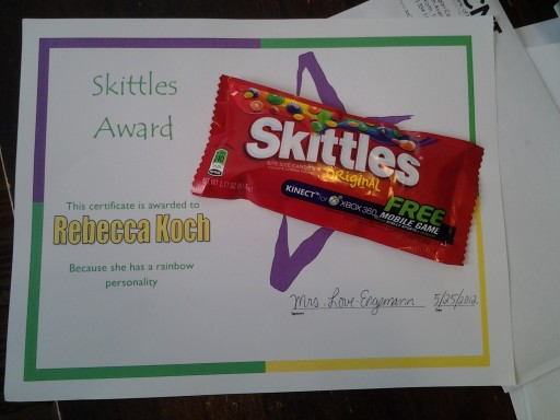 Skittles Award 1 - 05.25.12