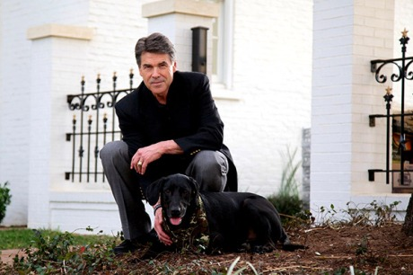 Rick Perry with Baxter
