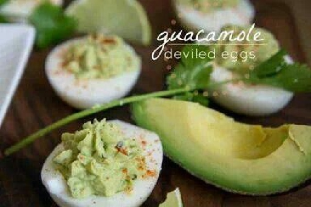 Avocado Deviled Eggs 4