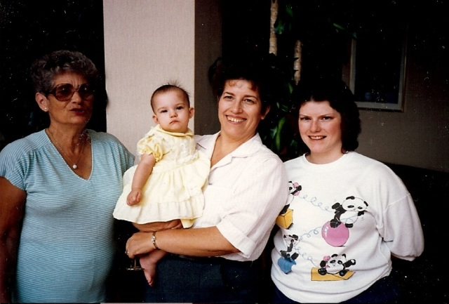 Four Generations of Carroll Women - 1987